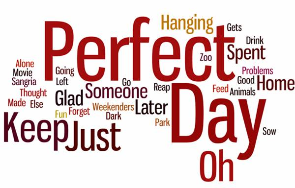 my perfect day essay In my perfect world, everyone is kind any girl who has ever snubbed another will come to the realis.